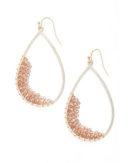 Crystal Embellished Teardrop Earrings