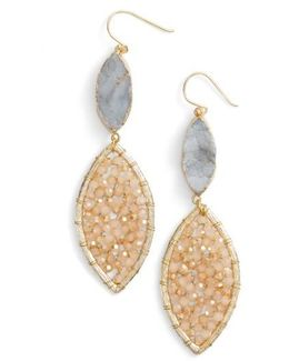 Sunstone Crystal Earrings