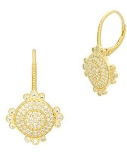 Amazonian Allure Pave Drop Earrings