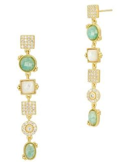 Amazonian Allure Linear Earrings