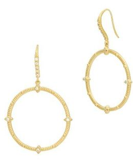 Amazonian Allure Drop Hoop Earring
