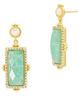 Amazonian Allure Rectangle Drop Earrings