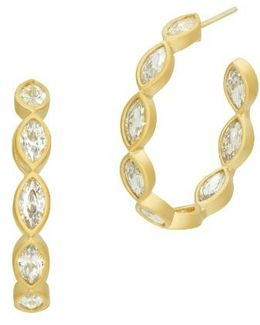 Amazonian Allure Marquise Hoop Earrings