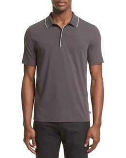 Tipped Stretch Cotton Polo