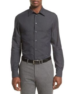 Slim Fit Pin Dot Sport Shirt