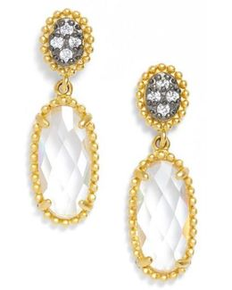 Frieda Rothman Oval Drop Earrings