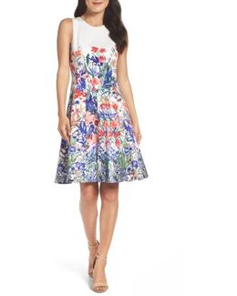Cottage Garden Fit & Flare Dress