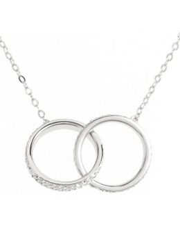 Trinity Double Link Pendant Necklace
