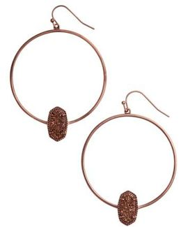 Elora Frontal Hoop Earrings