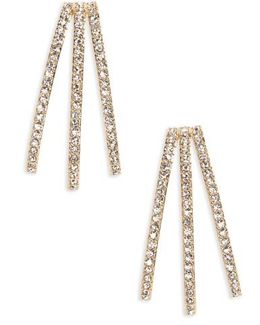 Three-row Crystal Ear Cuffs