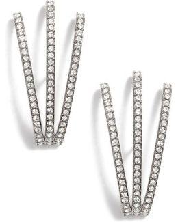 Three-row Crystal Ear Cuffs