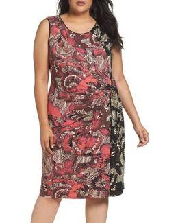 Etched Floral Dress