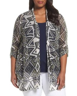 Mountain Dreams Lightweight Linen Blend Cardigan