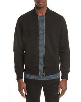 Organic Cotton Jersey Sweatshirt Bomber Jacket