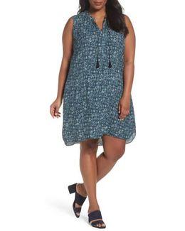 Seaglass Tassel Shift Dress