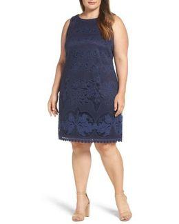 Lace Patterned A-line Dress