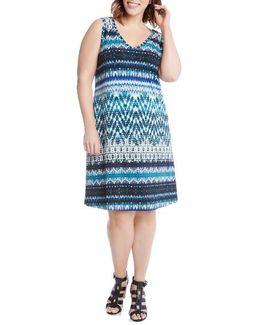 Brigitte Batik Stripe Tank Dress