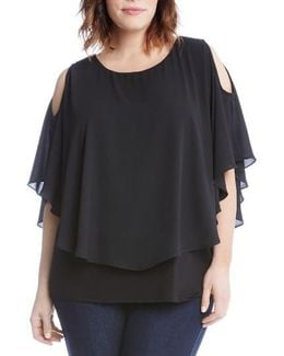 Layered Cold Shoulder Top