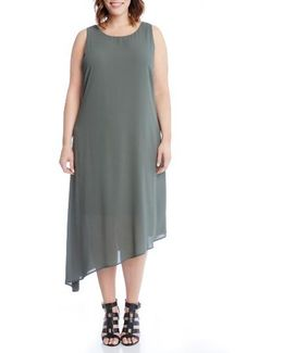 Asymmetrical Overlay Shift Dress