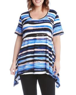 Painted Stripe Handkerchief Top