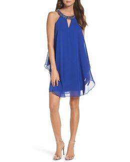 Embellished Trapeze Dress