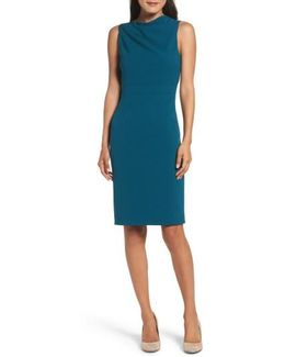 High Neck Sheath Dress