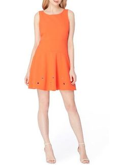 Grommet Stretch Dress