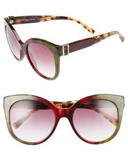 55mm Gradient Cat Eye Sunglasses - Bordeaux