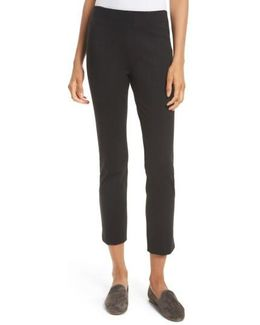 Crop Stretch Knit Trousers