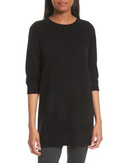 Elbow Sleeve Cashmere Tunic