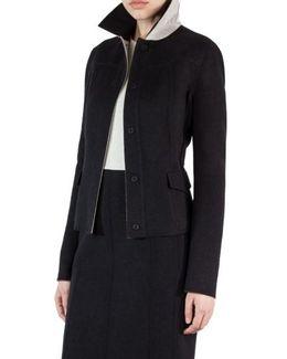 Double Face Wool Reversible Bicolor Jacket