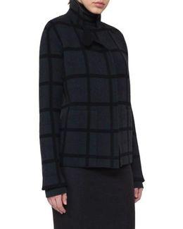 Double Face Cashmere Reversible Plaid Jacket