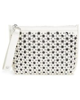 Skyler Faux Leather Clutch