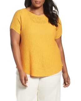 Organic Linen & Cotton Rib Sweater
