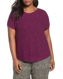 Silk Blend Tunic Sweater