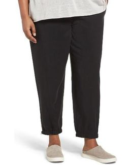 Tencel Twill Tapered Ankle Pants