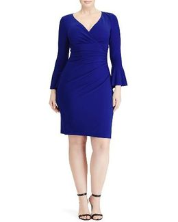 Elsietta Flared Sleeve Sheath Dress