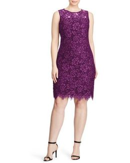 Corded Lace Sheath Dress
