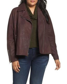 Skylar Leather Moto Jacket