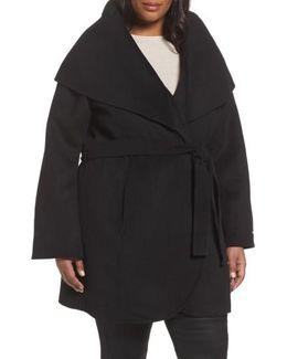 Maria Double Face Wool Blend Wrap Coat