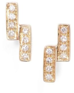 Sylvie Rose Double Bar Diamond Earrings