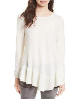 Tambrel N Wool & Cashmere Asymmetrical Sweater Tunic