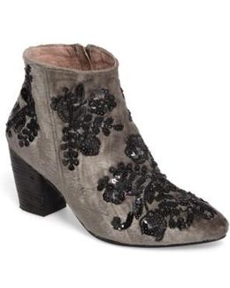 Night Out Velvet Bootie