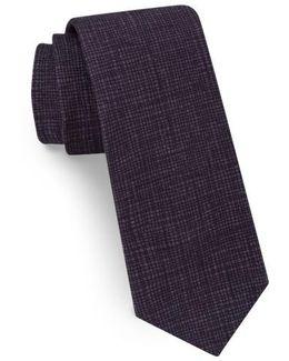 Solid Skinny Cotton Tie
