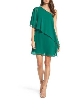 Chiffon One-shoulder Dress