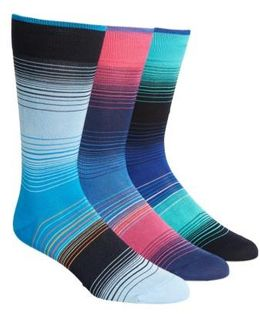 3-pack Cotton Blend Socks, Blue