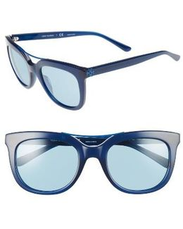 53mm Retro Sunglasses - Navy
