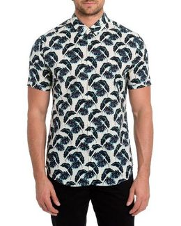 Lost In Paradise Print Woven Shirt