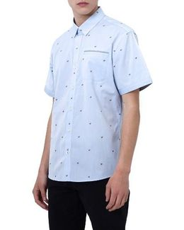 Cool It Down Embroidered Woven Shirt