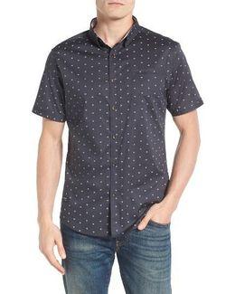Rising Water Print Woven Shirt
